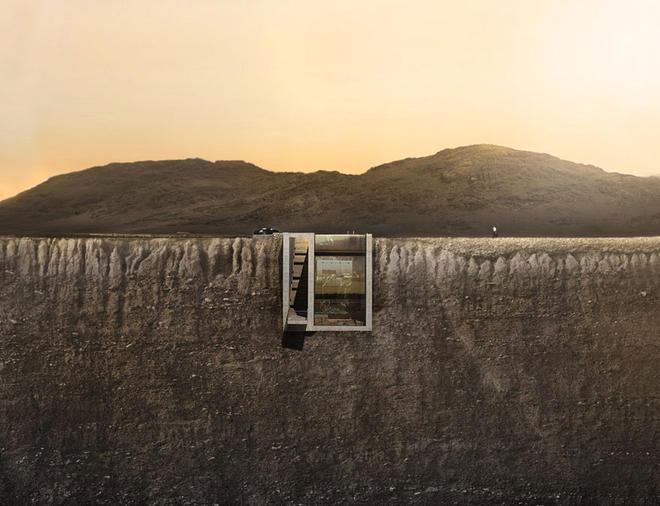 construction d une maison dans une falaise frenchimmo. Black Bedroom Furniture Sets. Home Design Ideas
