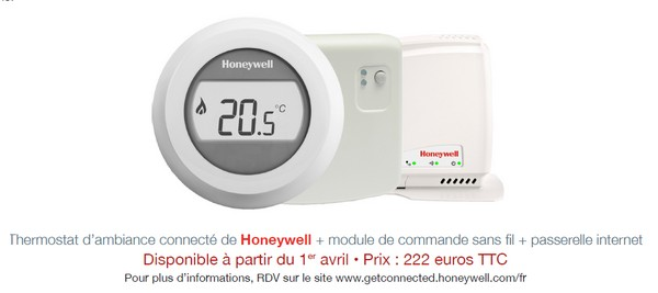 le thermostat d 39 ambiance connect de honeywell frenchimmo. Black Bedroom Furniture Sets. Home Design Ideas