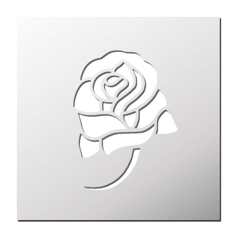 Pochoir rose avec tige frenchimmo - Rose avec tige ...