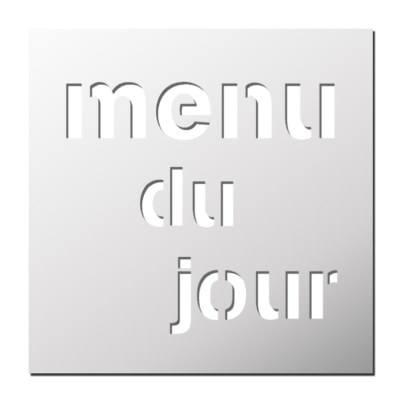 Pochoir d co cuisine mot menu du jour frenchimmo for Deco mot cuisine
