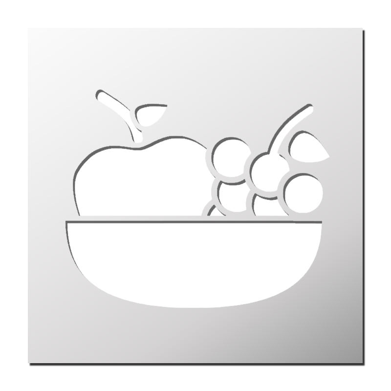 pochoir d co cuisine corbeille de fruits frenchimmo. Black Bedroom Furniture Sets. Home Design Ideas