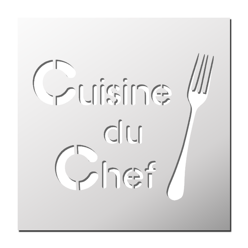 pochoir cuisine du chef frenchimmo