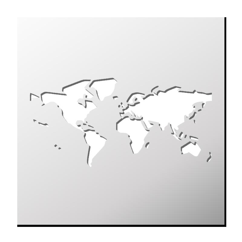 pochoir carte du monde Pochoir Carte du Monde | FrenchIMMO
