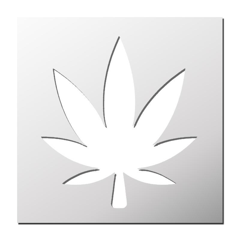 Pochoir feuille de cannabis frenchimmo - Feuille cannabis dessin ...