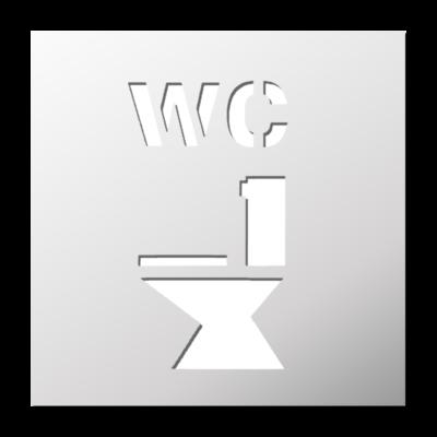 Attrayant Pochoir WC