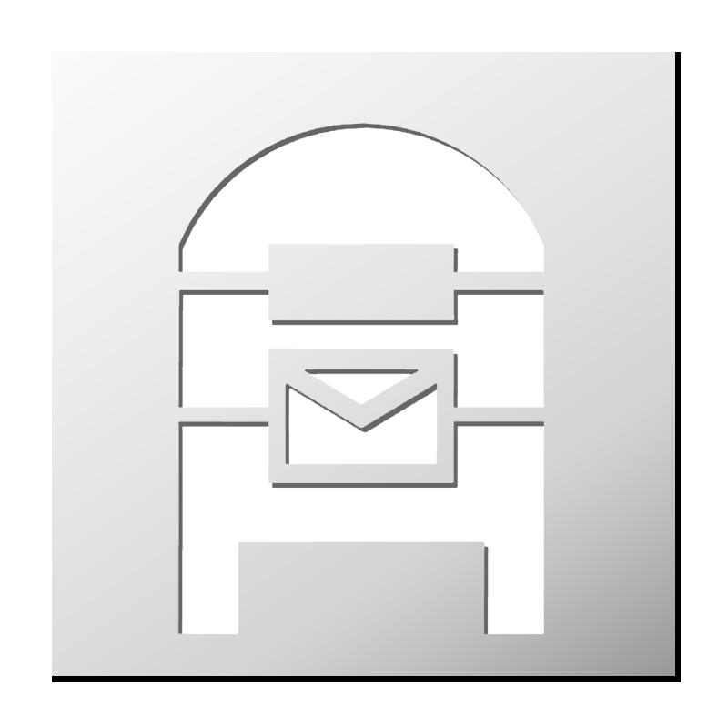 pochoir boite aux lettres frenchimmo. Black Bedroom Furniture Sets. Home Design Ideas