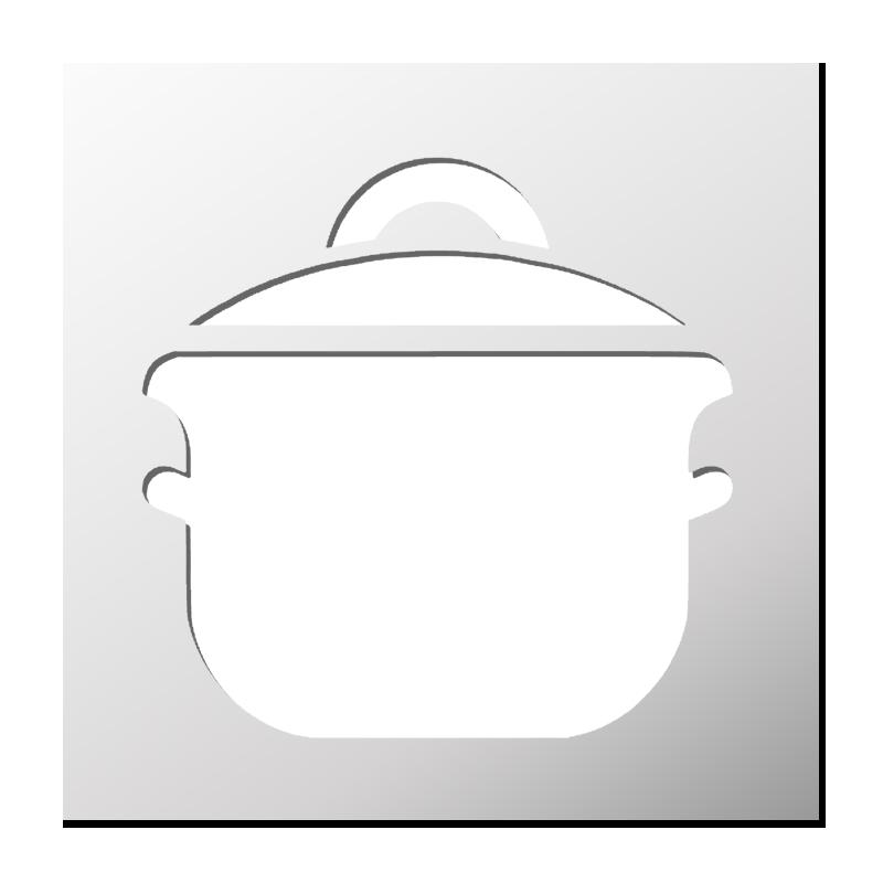 Pochoir casserole cuisine frenchimmo for Pochoir cuisine