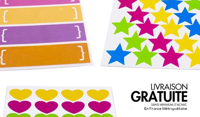 Planches de stickers à petits prix !