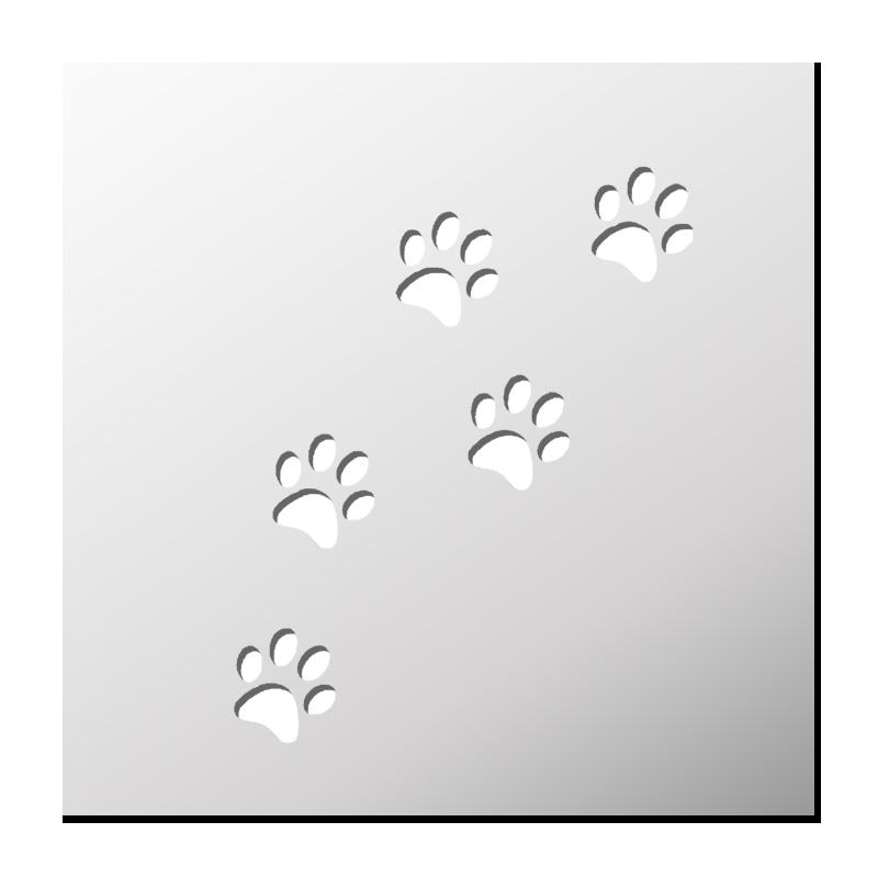 Pochoir traces pattes de chat frenchimmo - Trace de patte de chat ...
