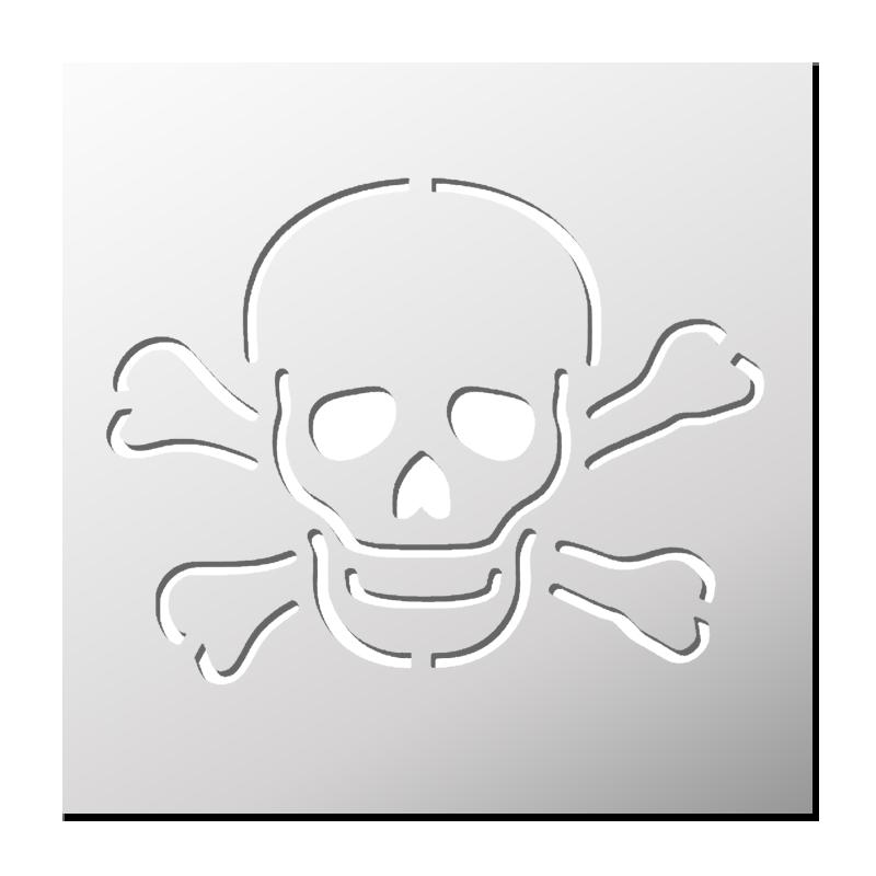 Pochoir Tête de mort | FrenchIMMO - Pochoir Tete De Mort