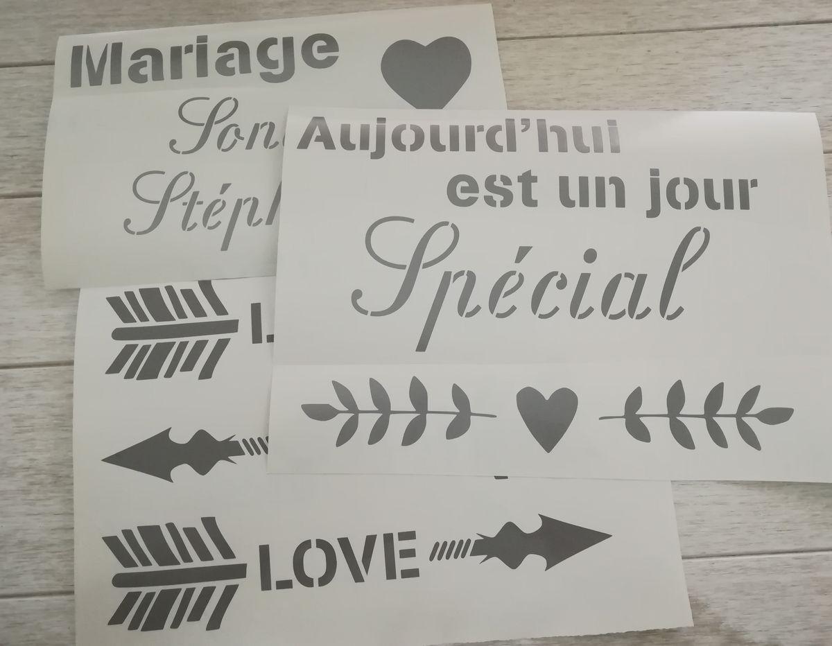 Déco de Mariage : Stickers & Pochoirs à prix mini !