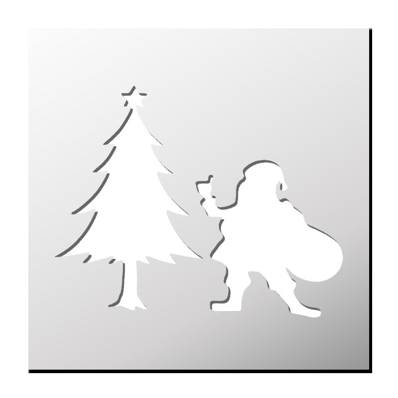 Pochoir Pere Noel.Pochoir Père Noël Frenchimmo