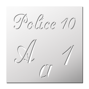 Police 10 (Majuscules, Minuscules, Chiffres)