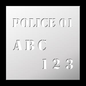 Police 01 (Majuscules et Chiffres)