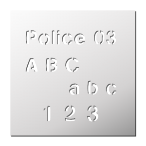 Police 03 (Majuscules, Minuscules, Chiffres)