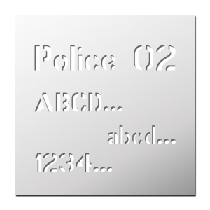 Police 02 (Majuscules, Minuscules, Chiffres)