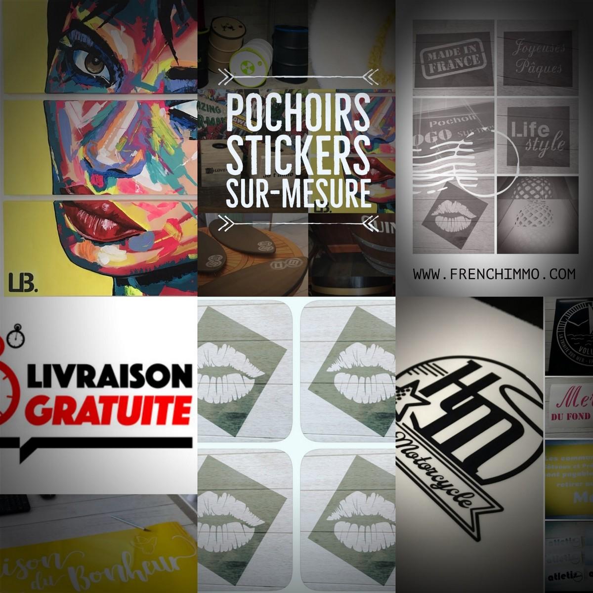 Achat en ligne de Pochoirs réutilisables, repositionnables