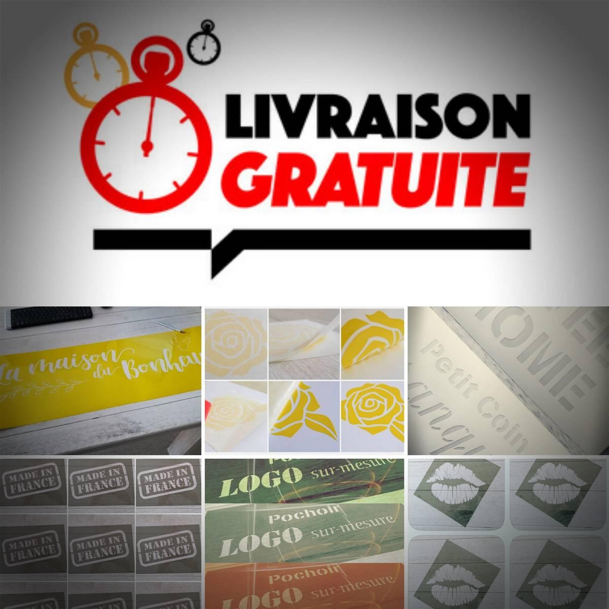 Livraison Gratuite Pochoirs et Stickers FrenchIMMO.com