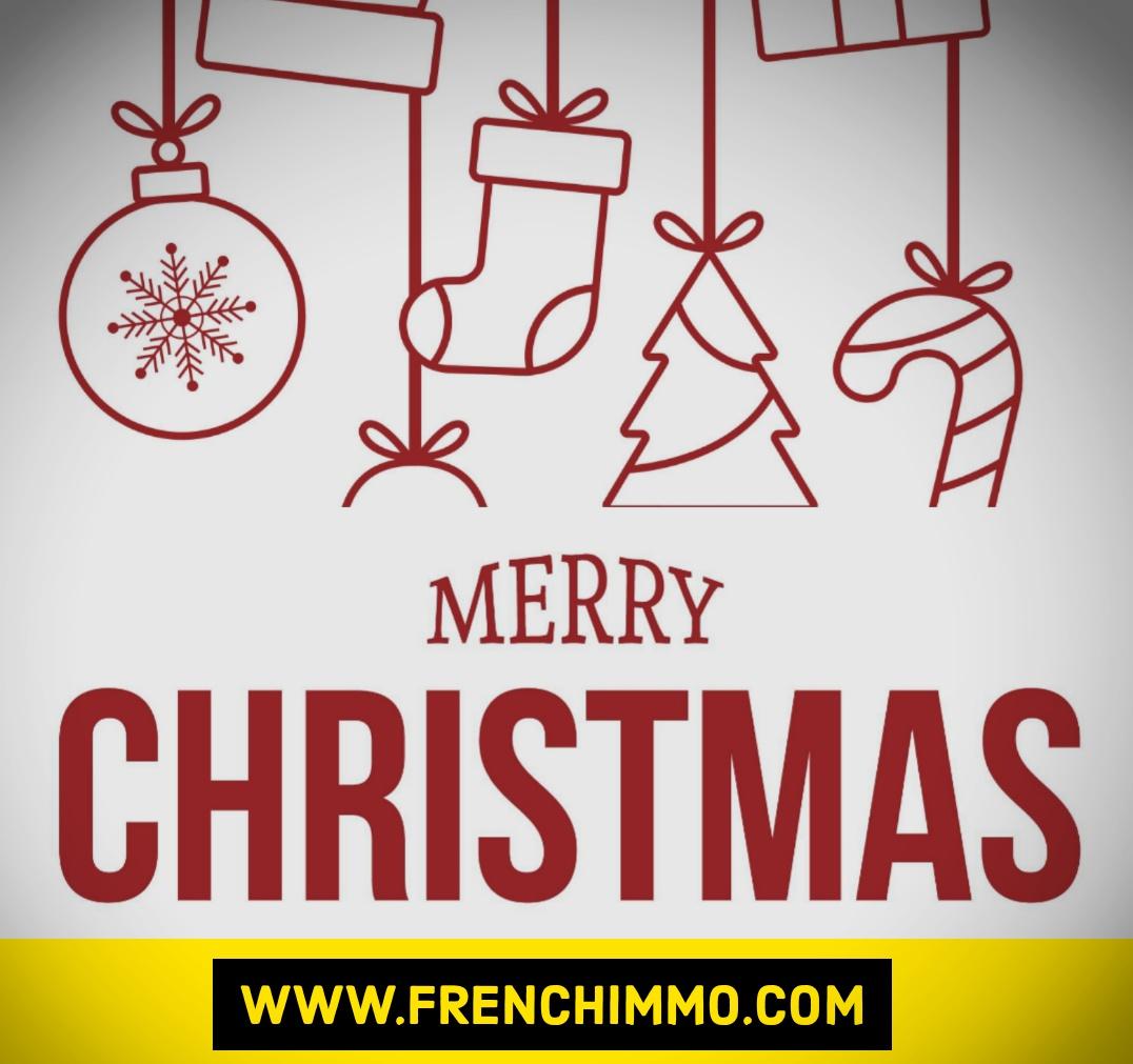 FrenchIMMO vous souhaite un Joyeux Noël et d'excellentes fêtes