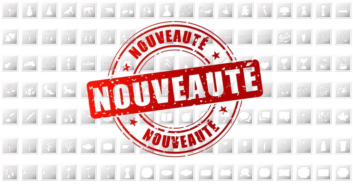 Nouveaux pochoirs créés cette semaine  FrenchIMMO.com